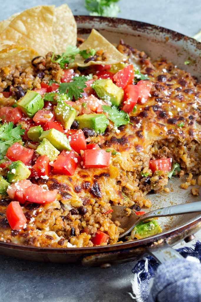 One-Skillet Cheesey Mexican Casserole - Real Food by Dad