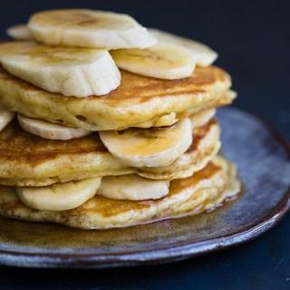 Banana Honey Pancakes