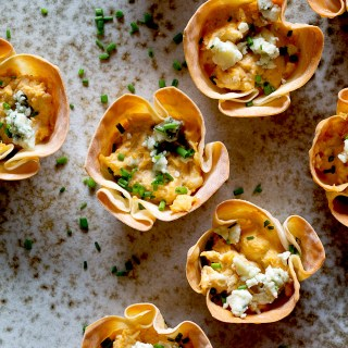 Buffalo Chicken Dip Cups