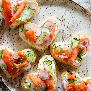 Valentines's Breakfast ~ Puff Pastry and Lox