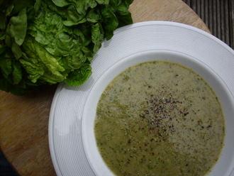 Quick lettuce soup (1/2)