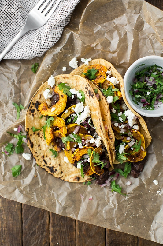 Visual Guide to Squash l delicata squash tacos