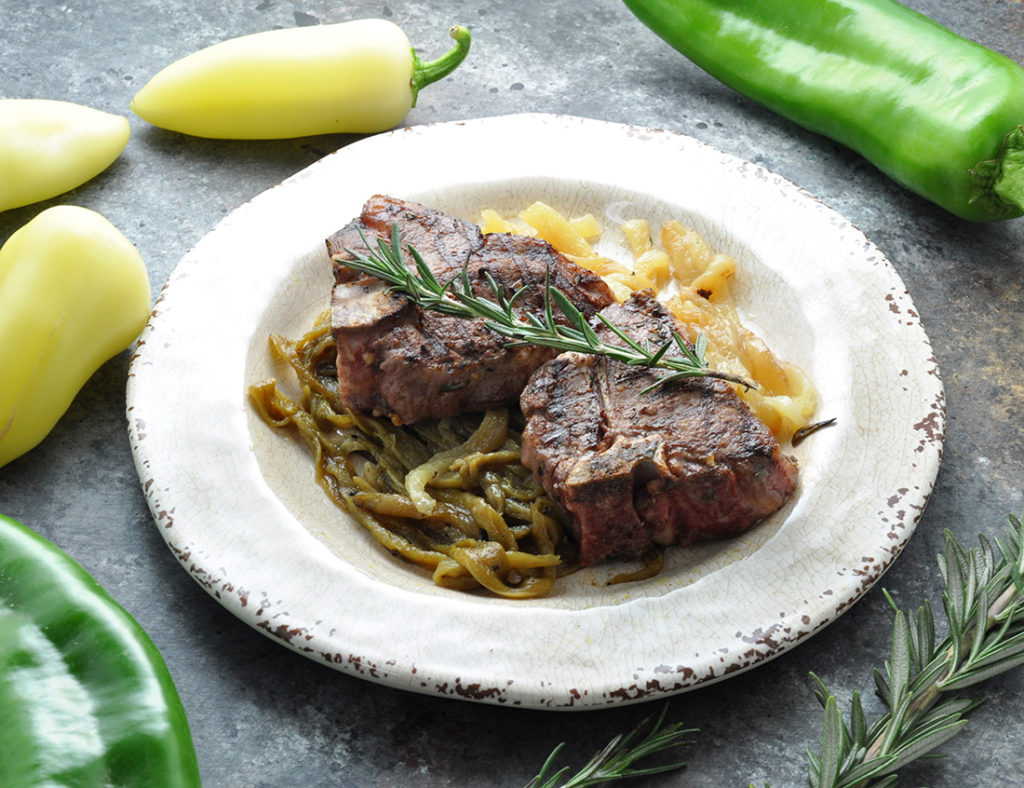 Grilled Chiles & Chops