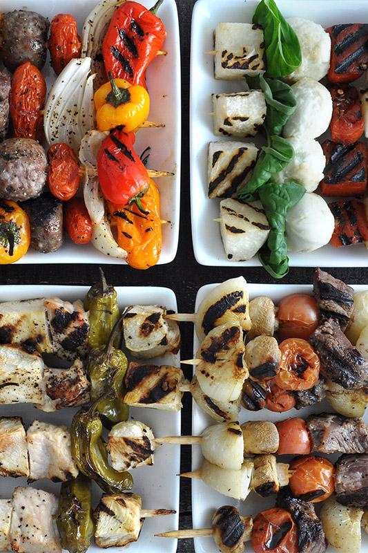 15 Best Vegetables for Grilling l grilled vegetable skewer kabobs