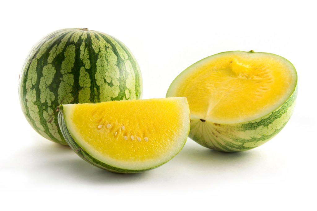 yellow watermelon, watermelon, variety melon, fresh fruit, healthy options