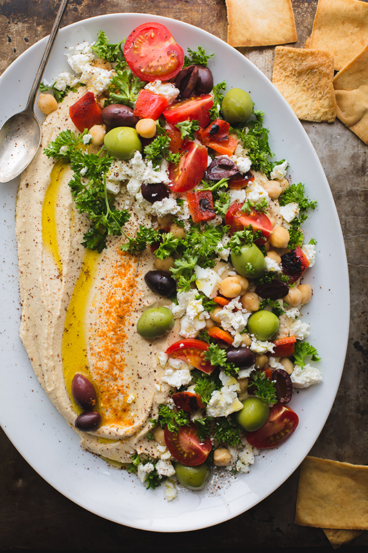 20 Healthy Tailgating Recipes that Score l loaded hummus