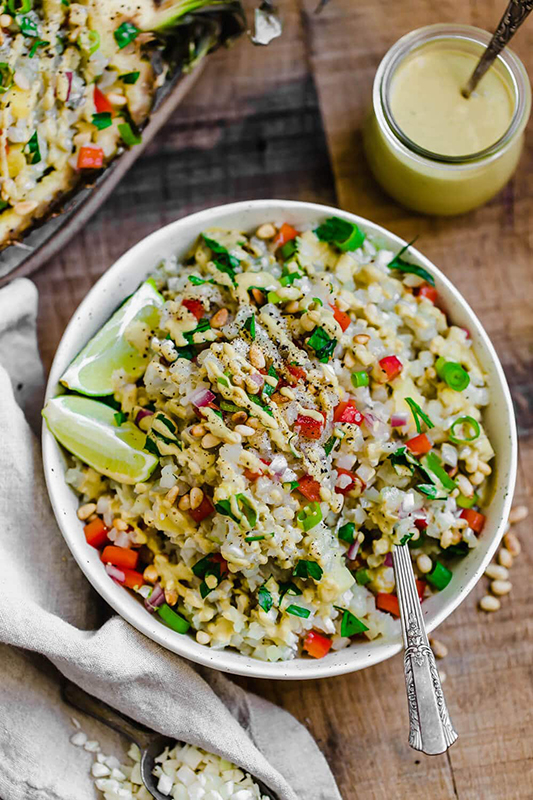 The Best of Whole30 Recipe Roundup l thai cauliflower rice salad