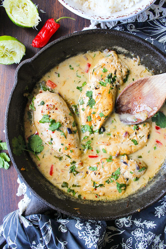 The Best of Whole30 Recipe Roundup l coconut lime chicken