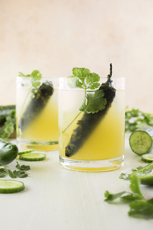 25 delicious ways to heat up national pepper month l roasted jalapeno cucumber margarita