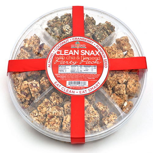 2018 Gift Guide for Food Lovers l Clean Snax® Party Pack with Chia and Flaxseed