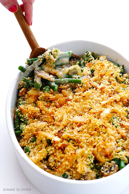 Healthy Thanksgiving Sides Recipe Roundup l healthier green bean casserole