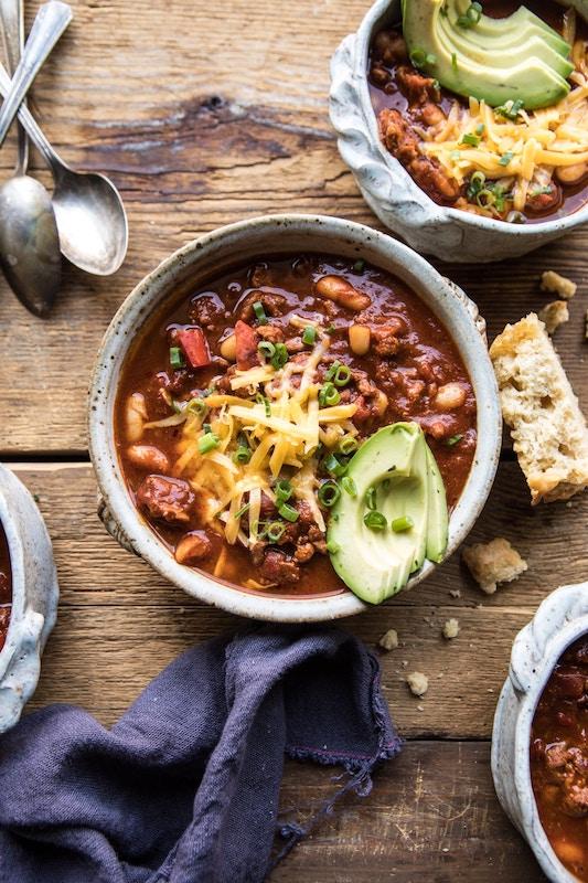 turkey chili, chili recipes, white bean chili recipes, soup recipes, comfort food