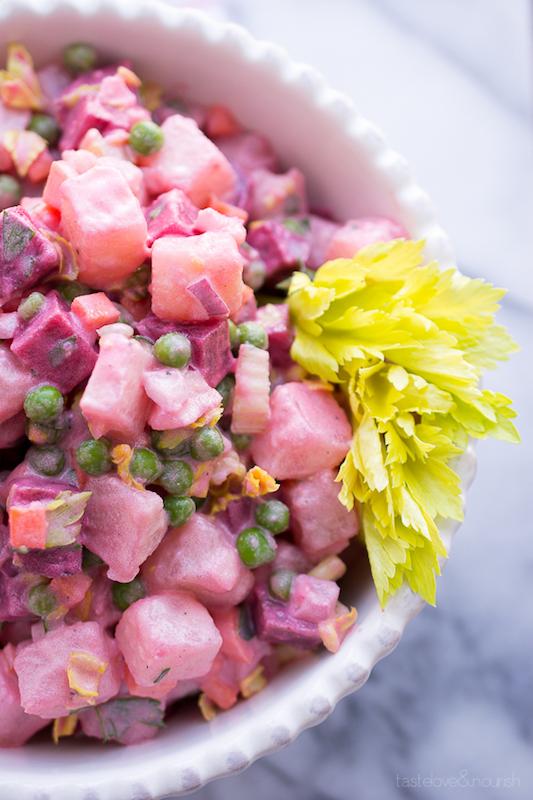 beet recipe, potato salad, beets