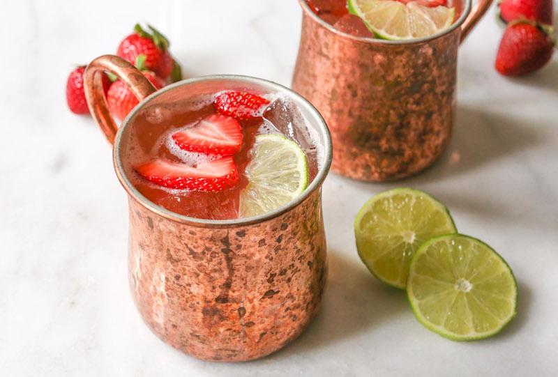 strawberry mule, mule recipes