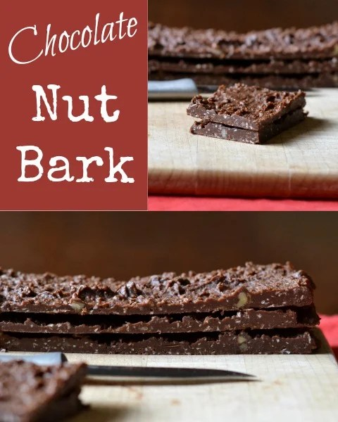 This healthy chocolate nut bark freezer candy is one of my favorite sweet treats. It's a must try! Recipe from Real Food Real Deals.