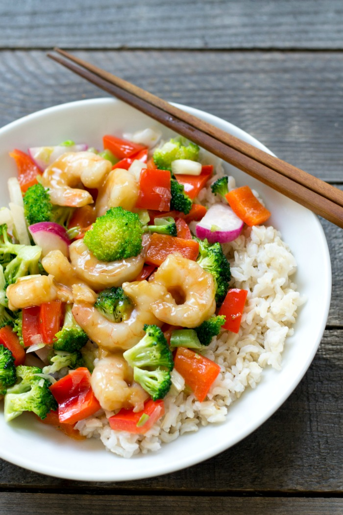 This shrimp and broccoli stir fry recipe is a delicious, healthy dinner recipe full of nutritious ingredients and flavor.