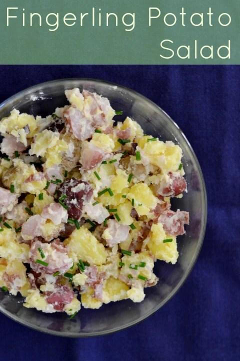 This fingerling potato salad is such a delicious healthy side dish. It's a great recipe to bring along to a cookout or party.