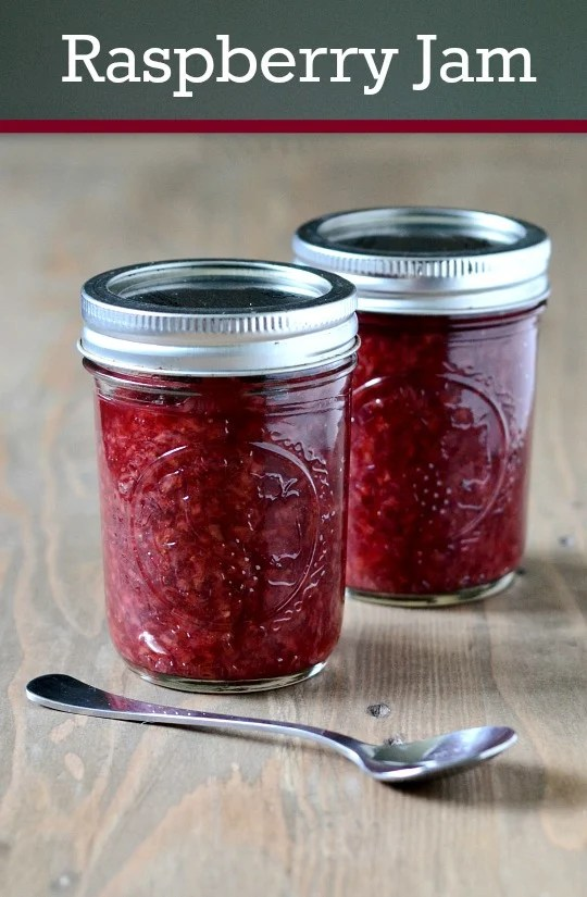 Homemade raspberry jam is one of life's simple pleasures. This recipe post shares detailed step-by-step instructions about how to make and can your own raspberry jam without added pectin.