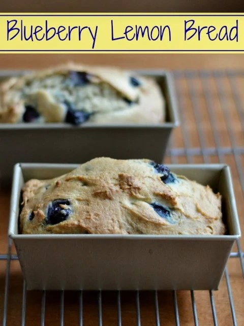 This blueberry lemon bread is a healthy snack recipe that can be frozen and used later on a busy day. Perfect for a school lunchbox!