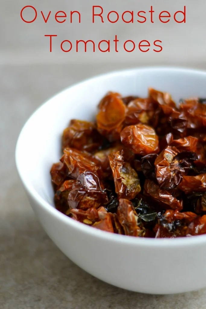 This recipe for oven roasted tomatoes is a great way to preserve tomatoes when you have an abundance in the summer.