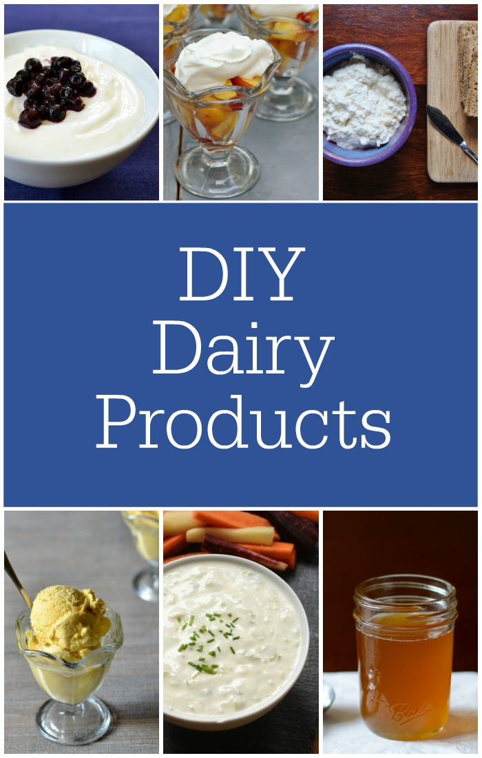 DIY dairy products are so easy to make, and the results are delicious. You can save lots of money with these healthy recipes.