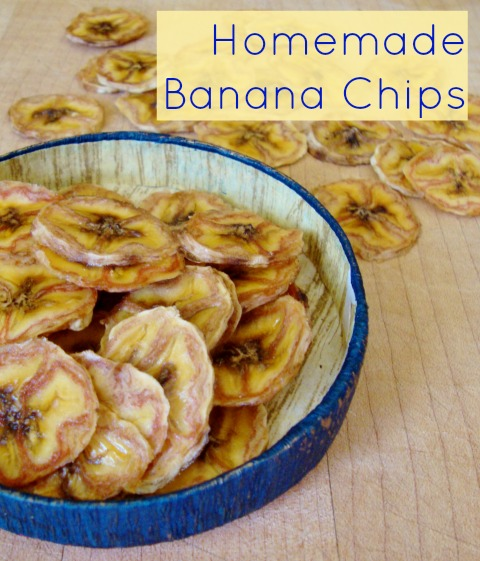 These homemade banana chips taste like candy! They're such a sweet, delicious snack. Recipe from Real Food Real Deals.