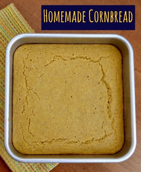 This classic cornbread recipe is a healthy version that tastes great as a side dish next to a bowl of chili or a nutritious snack.