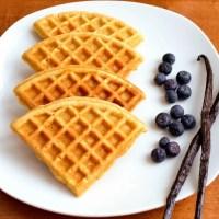 Homemade vanilla waffles from Real Food Real Deals