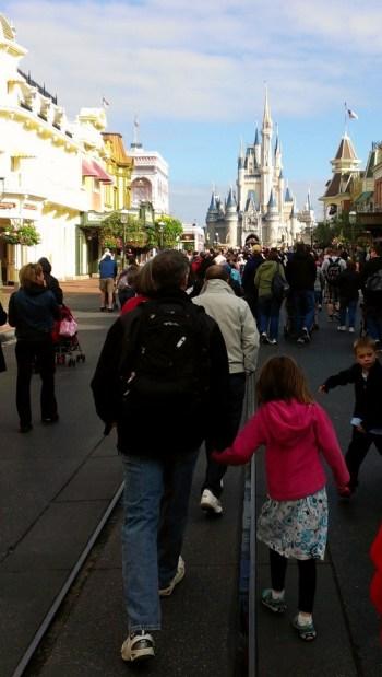 Walking on Main Street USA