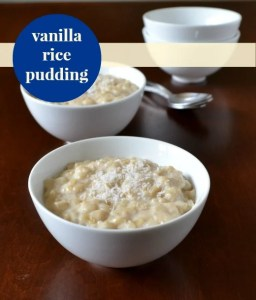 vanilla rice pudding recipe