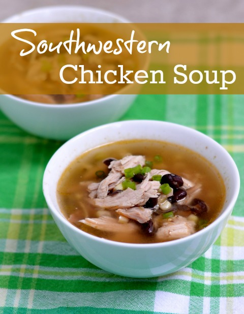 This flavorful Southwestern Chicken Soup is easy to make, so it's the perfect dinner for a busy night. Try this recipe for a healthy winter meal.