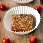 Cranberry apple energy bars are an easy, healthy snack.