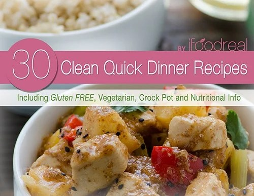 30 clean quick dinner recipes cover