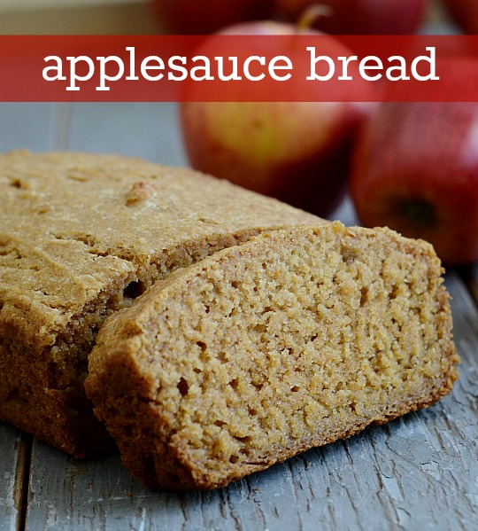 Applesauce bread recipe from real food real deals this applesauce bread is the best healthy snack so flavorful and easy to make forumfinder Image collections