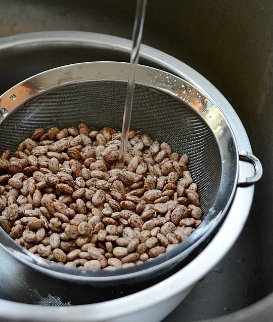 how to cook beans rinse