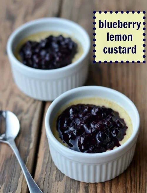 This blueberry lemon custard is cozy comfort food at its best! You've gotta try this delicious, healthy recipe.