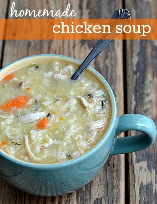 Homemade chicken soup is the best comfort food! It's the perfect healthy recipe to make when someone in the house is sick.