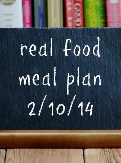 Real Food Meal Plan Week 3