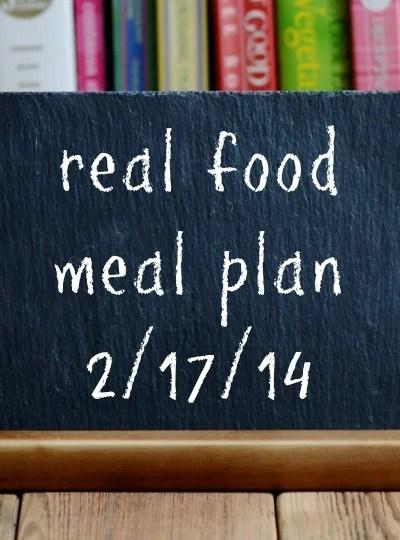 Real Food Meal Plan Week 4