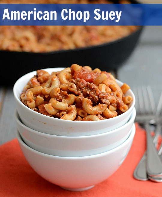 This American Chop Suey recipe is a delicious, healthy alternative to Hamburger Helper. It's a quick, easy meal that kids and adults love.