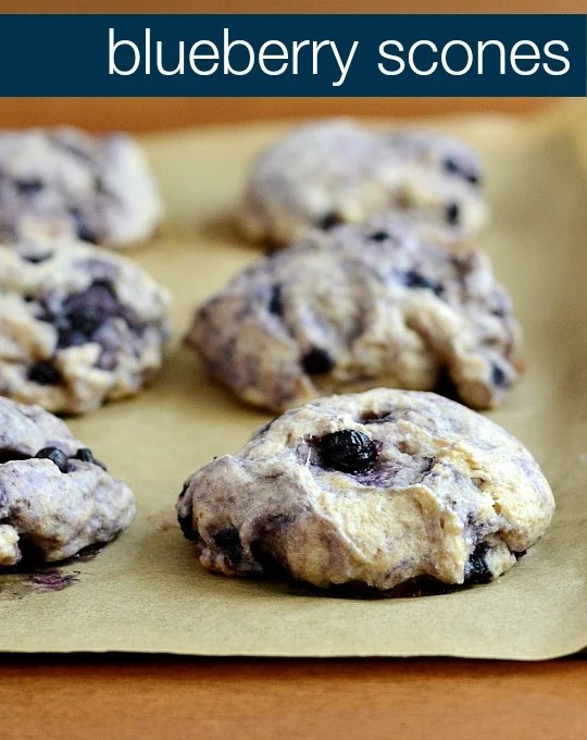 These blueberry scones are the perfect healthy snack or breakfast! So fresh and delicious. Recipe from Real Food Real Deals