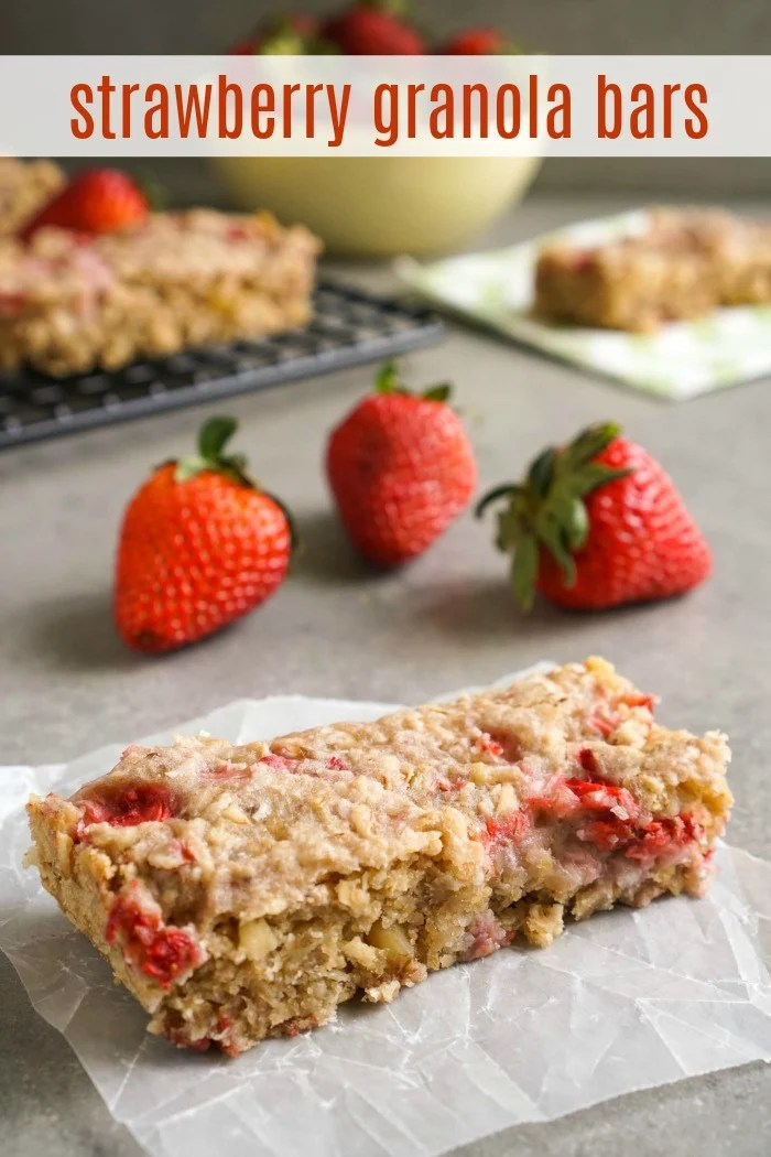This strawberry granola bar recipe makes a delicious, easy snack. You can avoid highly processed granola bars by making your own at home.