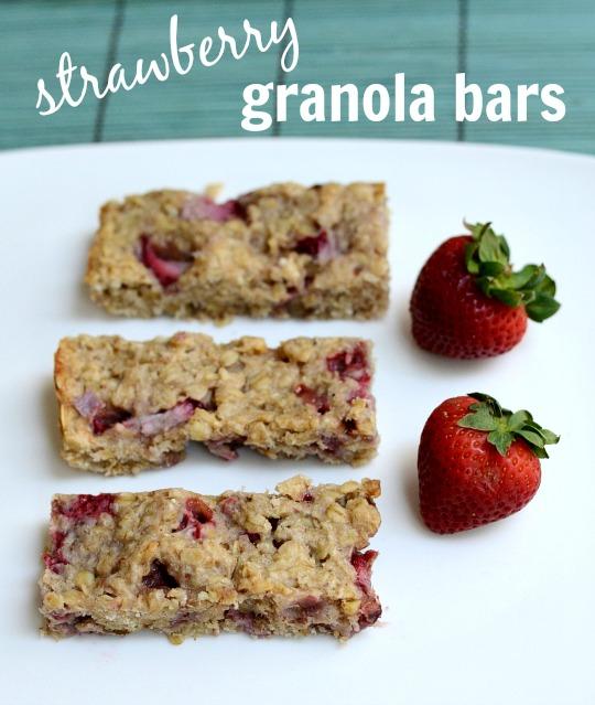 strawberry granola bar recipe