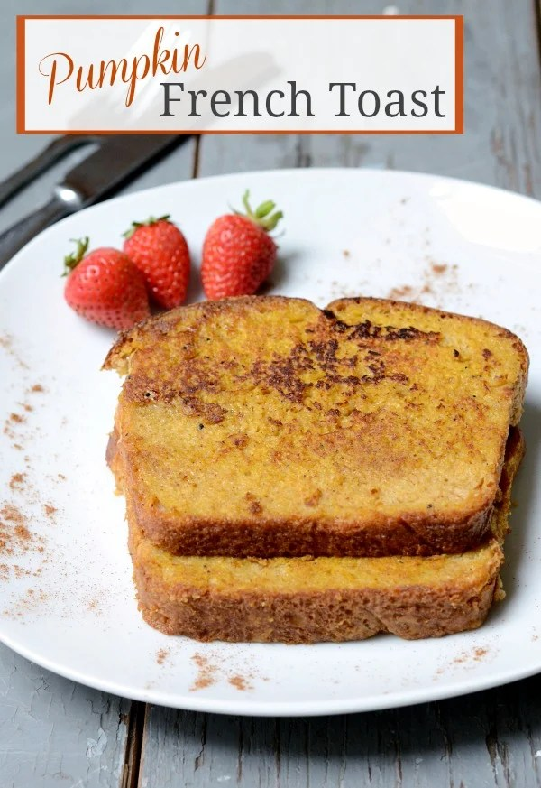You have to try this Pumpkin French Toast recipe! It's the perfect fall breakfast. | Real Food Real Deals