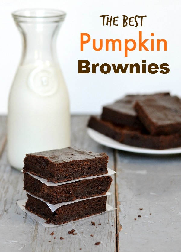 These are the best pumpkin brownies! The flavor and texture are perfect. Great fall recipe from Real Food Real Deals.