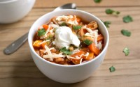This Chicken Chili recipe makes the best comfort food dinner! It's healthy and frugal (just $1.40 per serving). Perfect for a winter night!