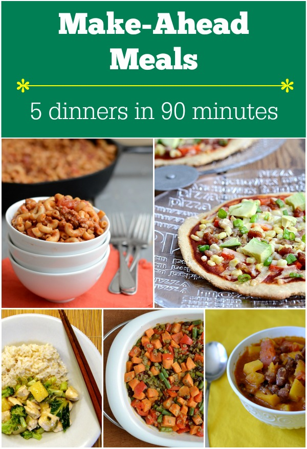 Make-Ahead Meals: Five Dinners in 90 Minutes. Get all your weekly meal prep done during the weekend | Real Food Real Deals