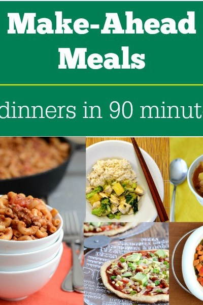 Make-Ahead Meals: 5 Dinners in 90 Minutes