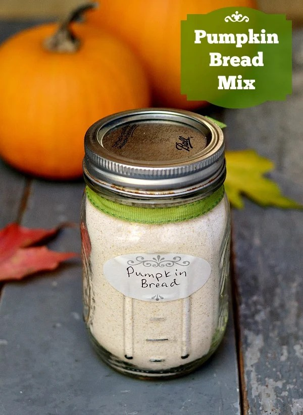 Homemade pumpkin bread mix recipe, a great gift! Pin to your Christmas or holiday gift board. Recipe from Real Food Real Deals.