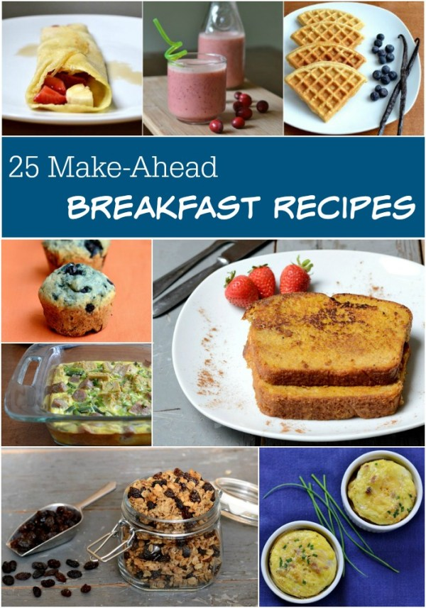 It's time to kick the boxed cereal habit! These 25 healthy make-ahead breakfast recipes will give you good fuel to start your day. Recipes from Real Food Real Deals.